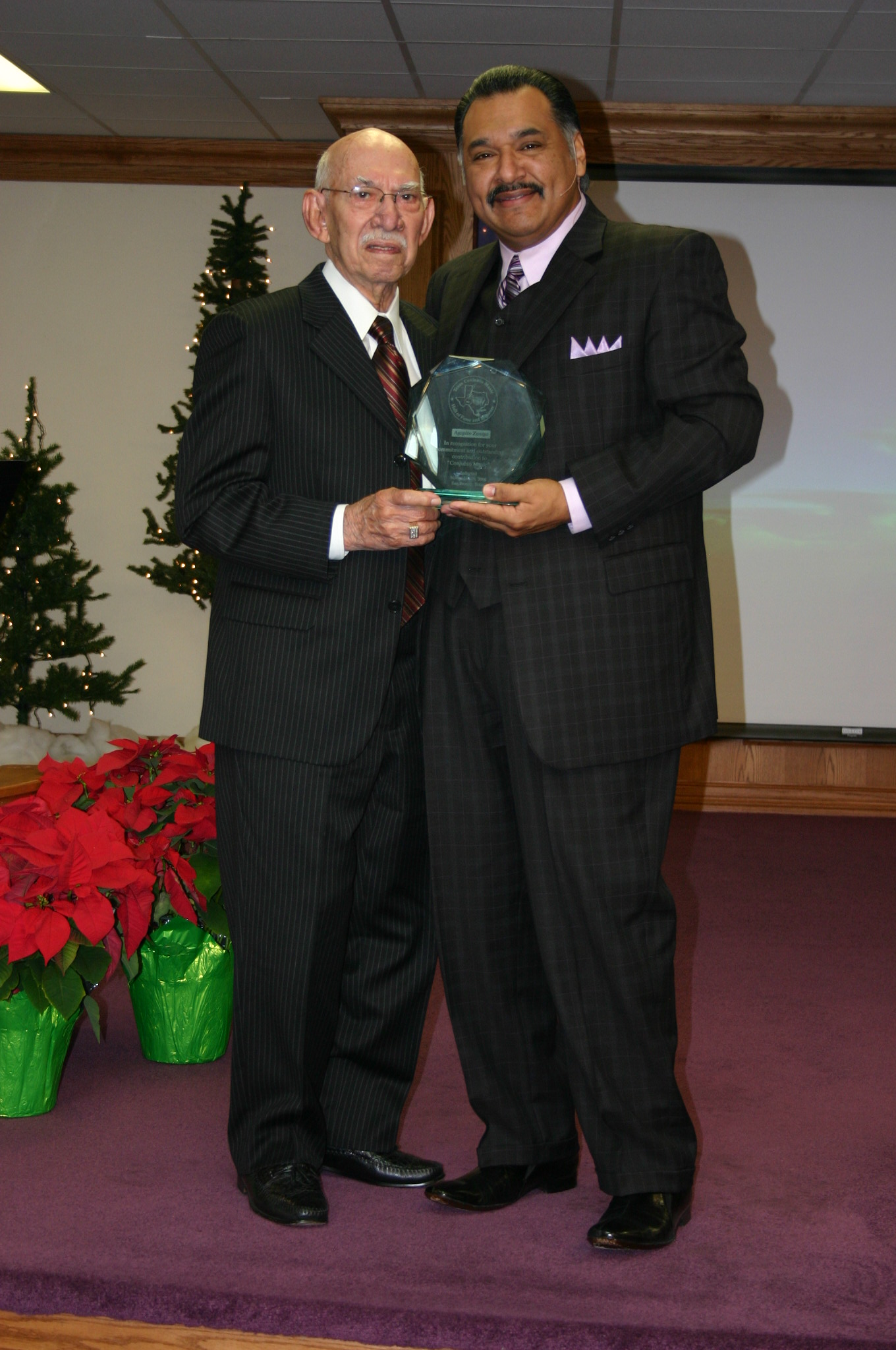 Pastor Arnold with Dad